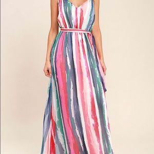 Jack by BB Dakota Joyner White Print Maxi Dress